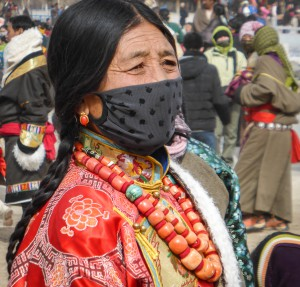 Tibetans wear coral like the Navajo wear turquoise.