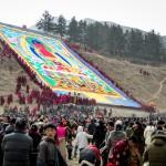 tapestry on hillside